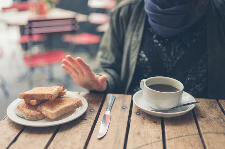 Woman on gluten free diet