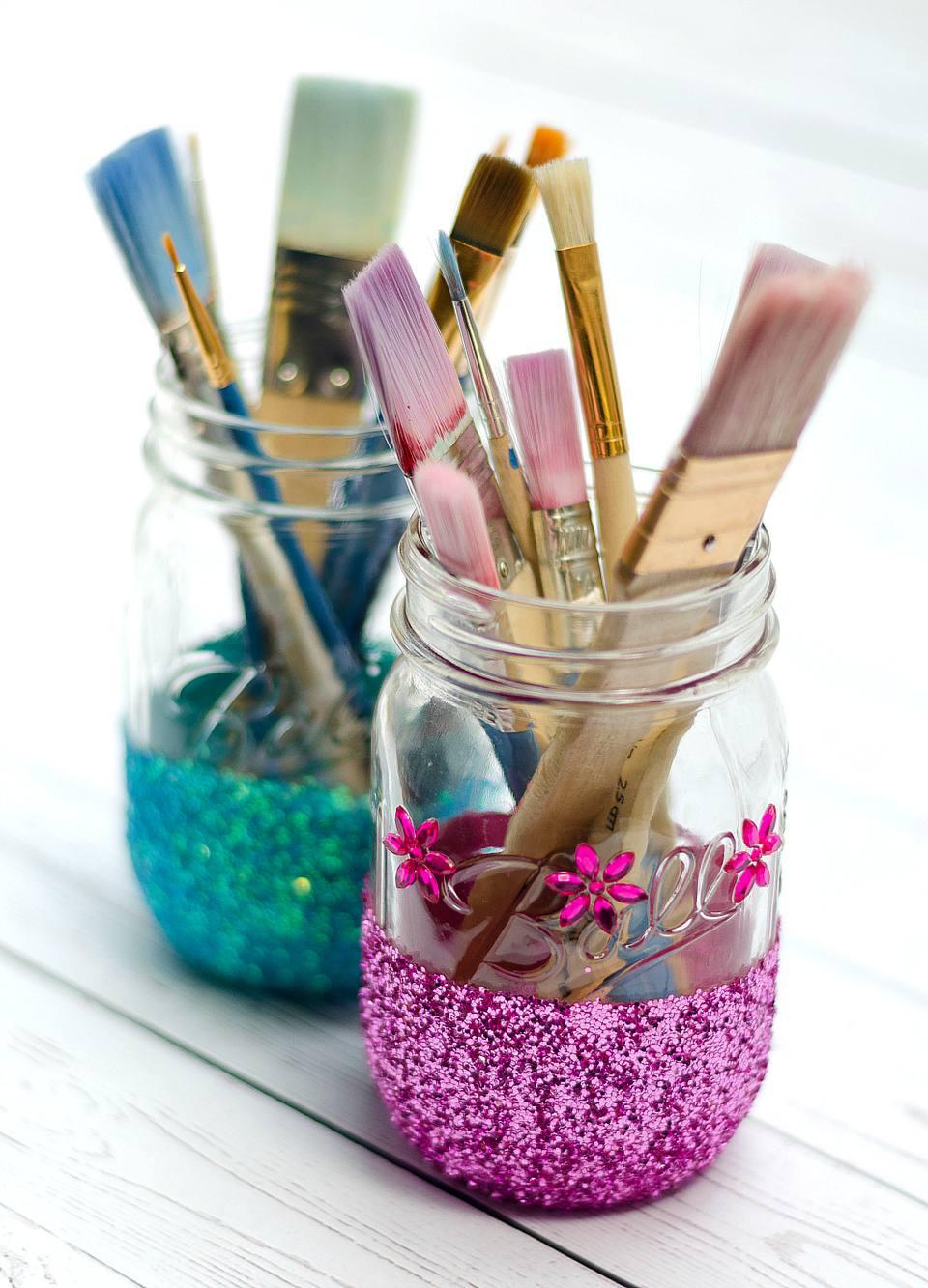 diy glitter storage jar - Diy Mason Jar