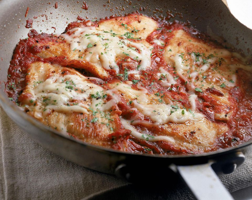 Spaghetti chicken parmesan home pictures.