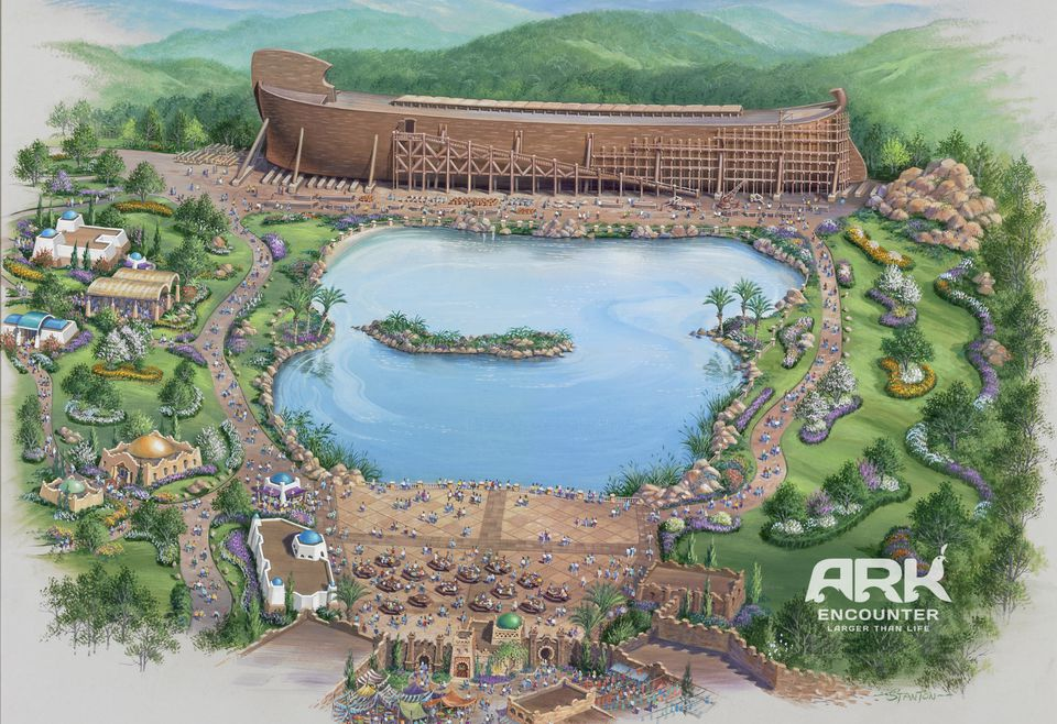 Rendering of Ark Encounter park in Kentucky.