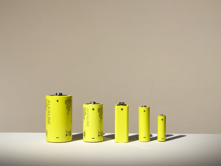 Bar chart arranged by batteries