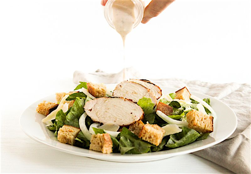 how to make caesar salad healthy