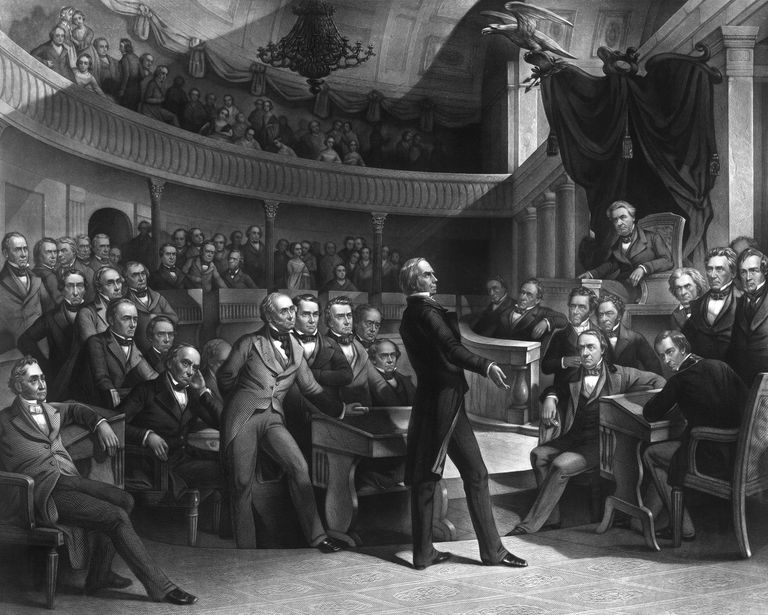 Senator Henry Clay speaking about the Compromise of 1850 in the Senate.