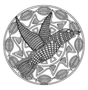 Mandala coloring free