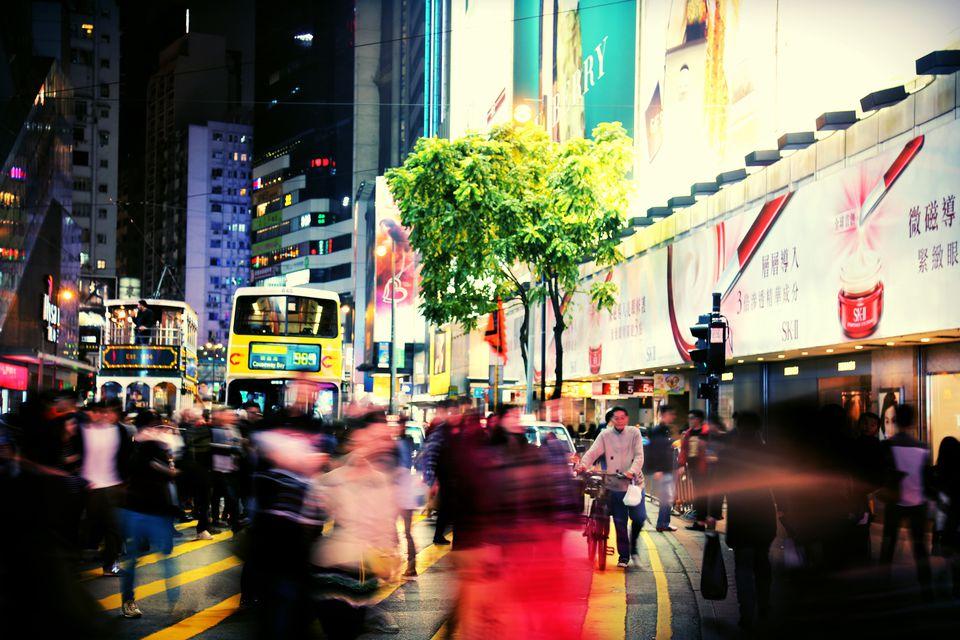 Night bus in Hong Kong