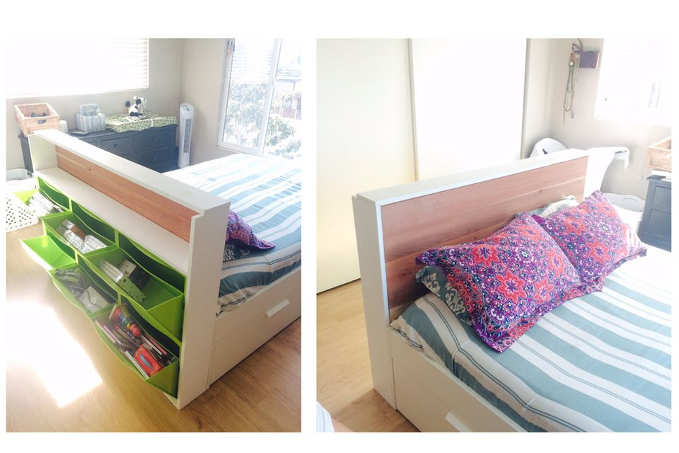 Ikea Trones headboard hack. 21 Best IKEA Storage Hacks for Small Bedrooms