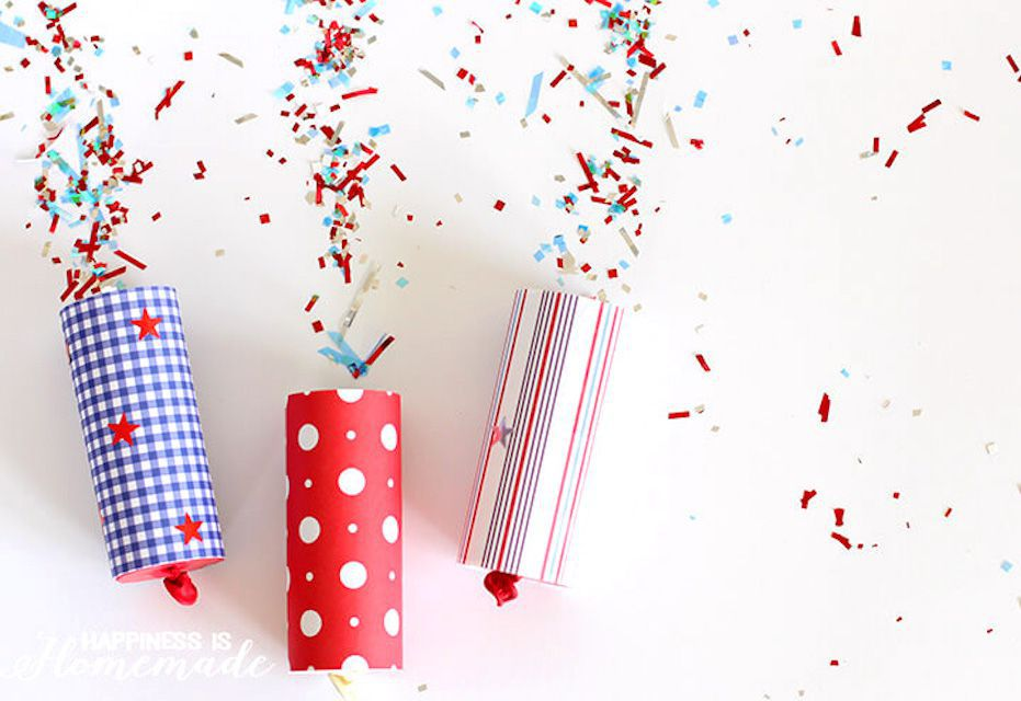 fourth of july craft for kids confetti poppers