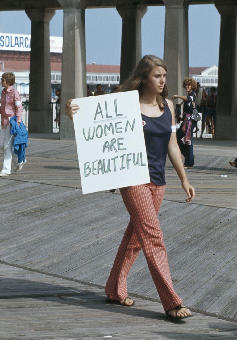 Protesta contra el concurso Miss America Pageant en Atlantic City, New Jersey, en 1969.