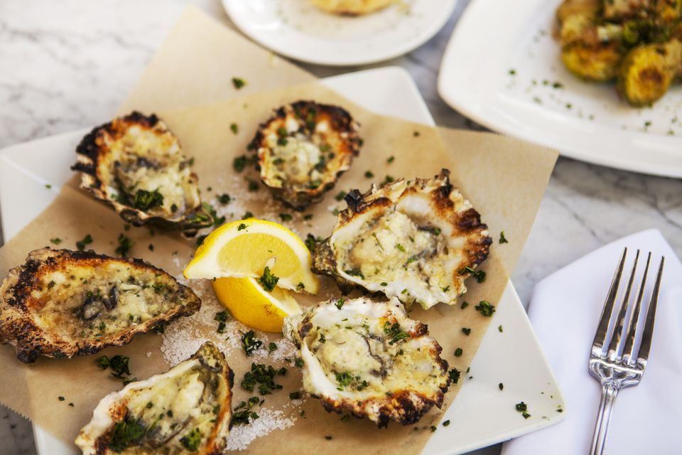 charbroiled oysters on the half shell