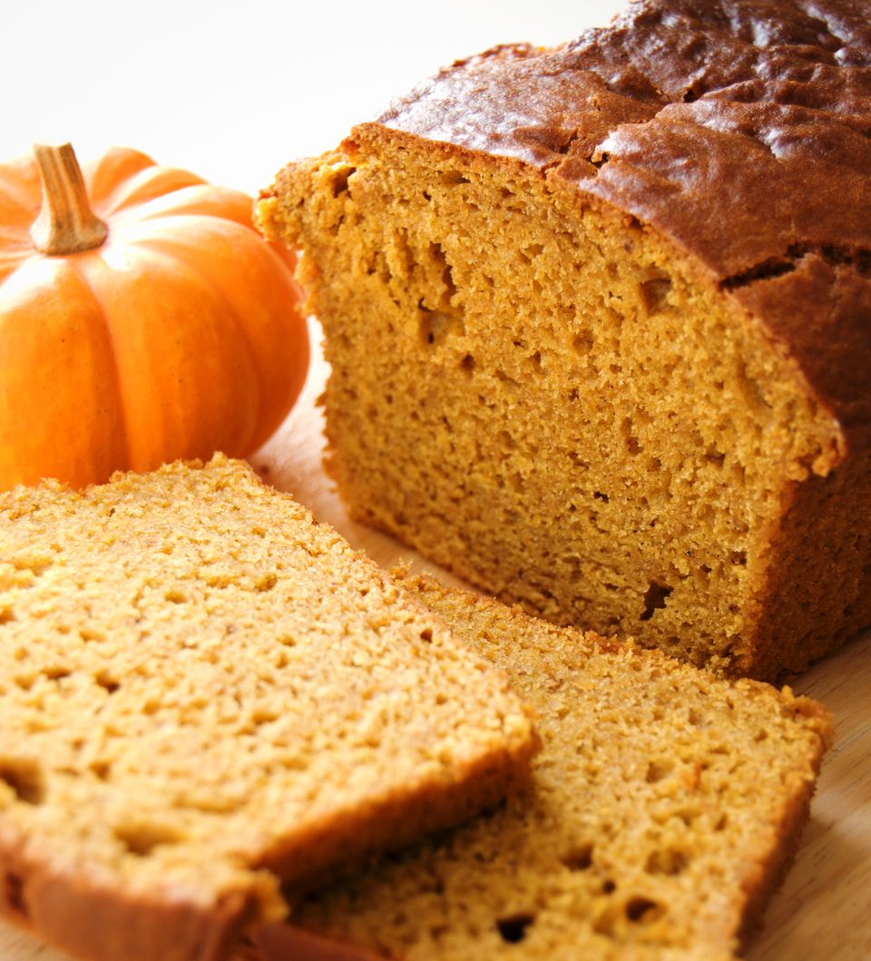Homemade vegan pumpkin bread