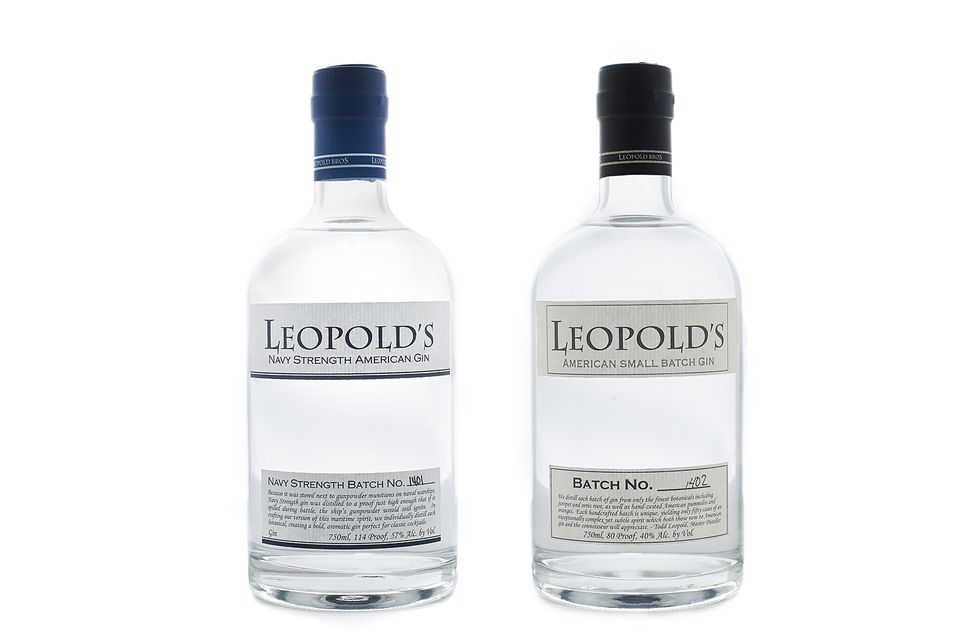 Leopold's American Small Batch and Navy Strength Gin