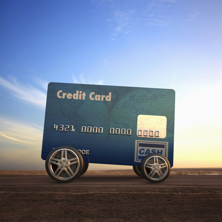 Large card made from a credit card