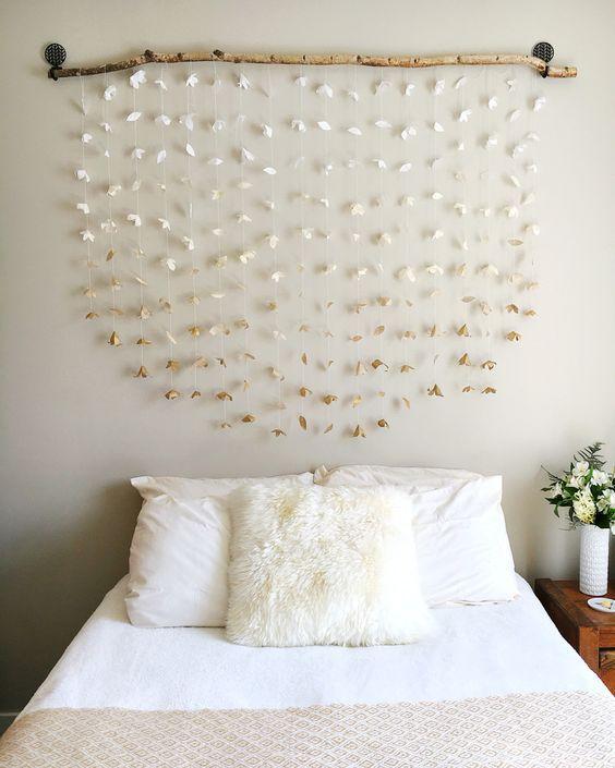 DIY bedroom decor ideas - wall hanging for headboard