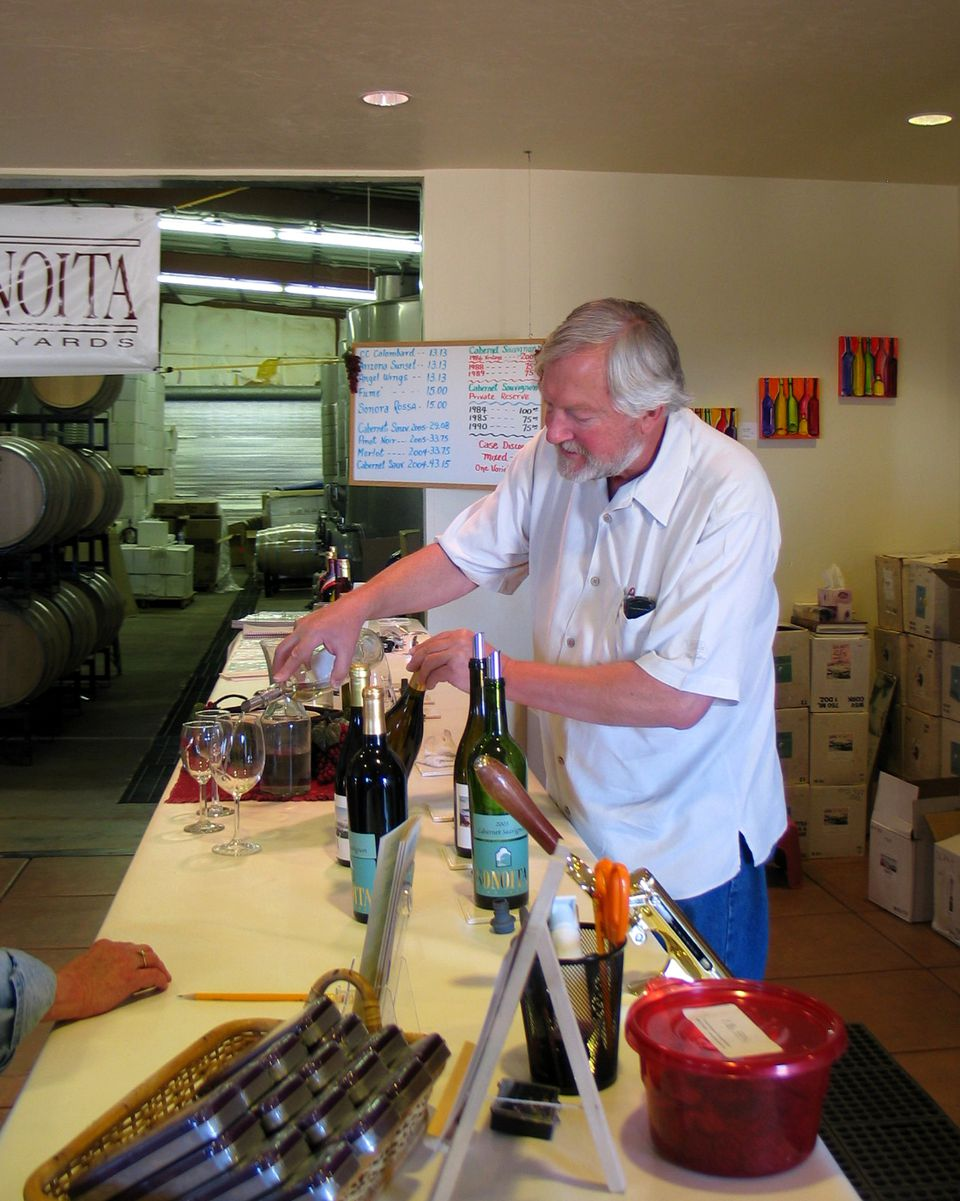 Pouring at Sonoita Winery