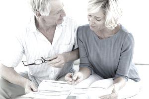 older couple calculating finances