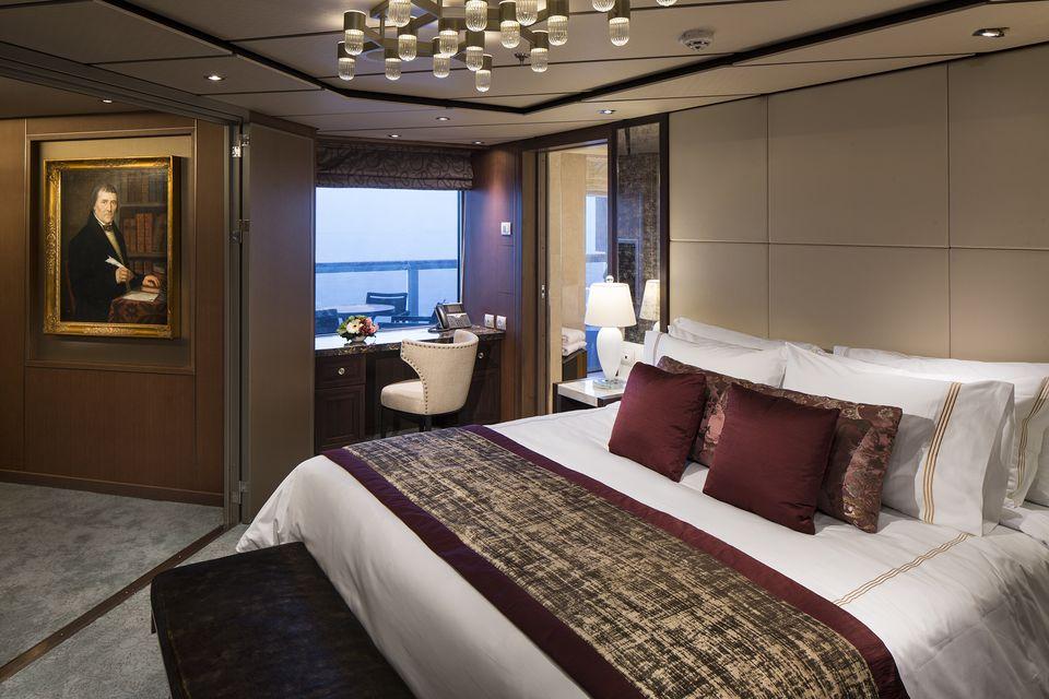 Holland America Koningsdam Pinnacle Suite Bedroom
