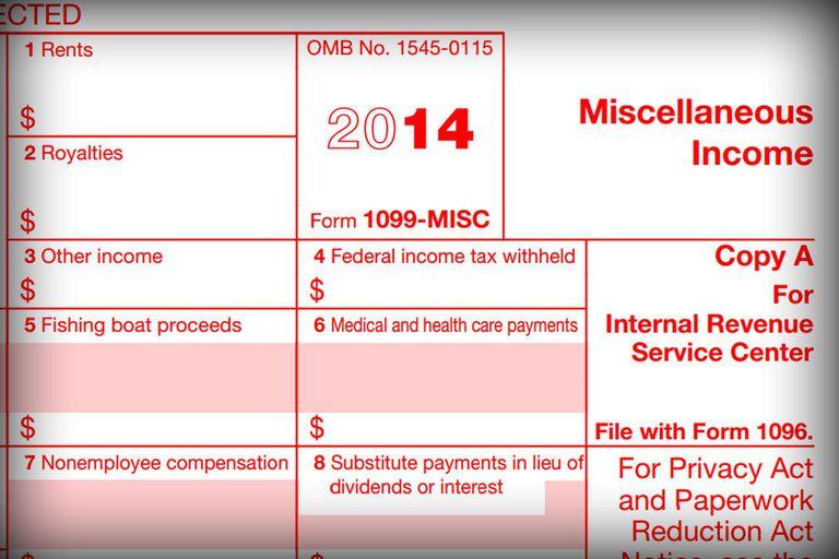 1099-MISC tax form