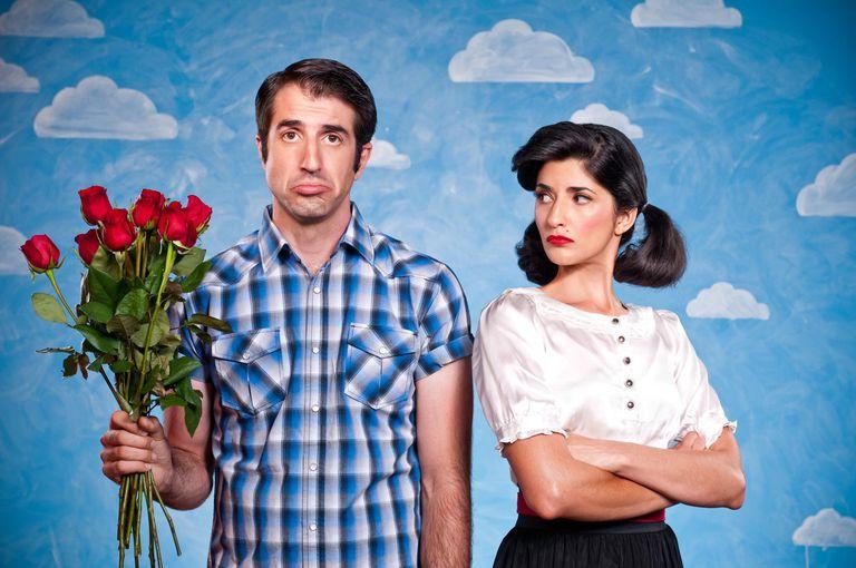 unhappy Valentine's day couple
