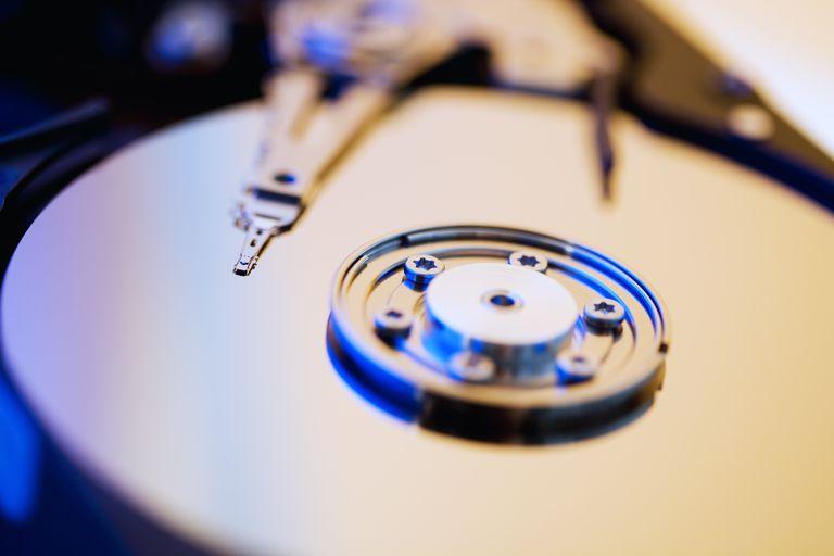 CD disc writer, close-up
