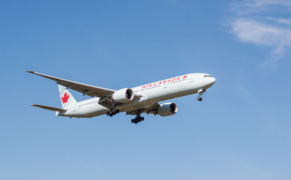 Air Canada in flight