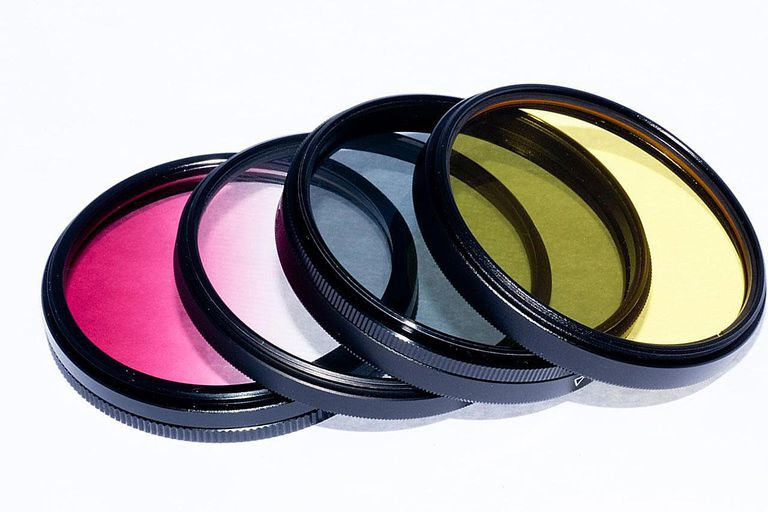 Colourless closeup filter used to protect camera