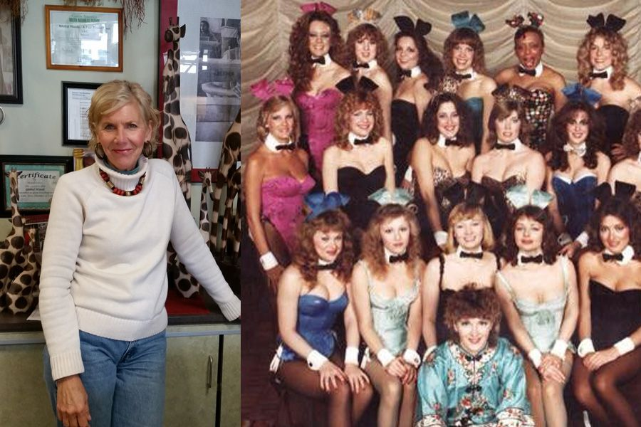 Pam Ellis and the former Playboy Bunnies