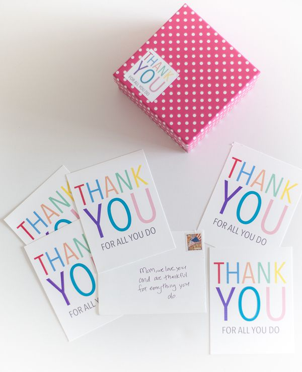 thank you post card