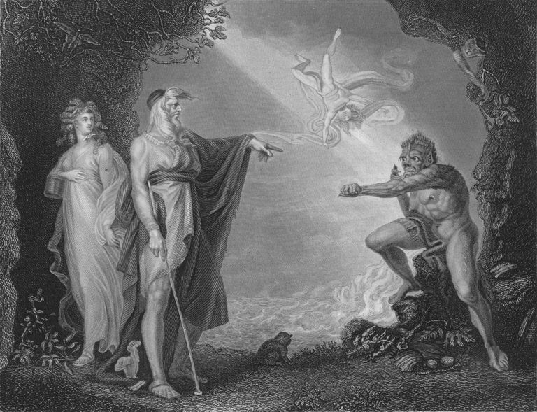 Act I Scene ii from The Tempest, c19th century