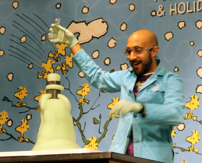 The elephant toothpaste demo is an exothermic chemical reaction.