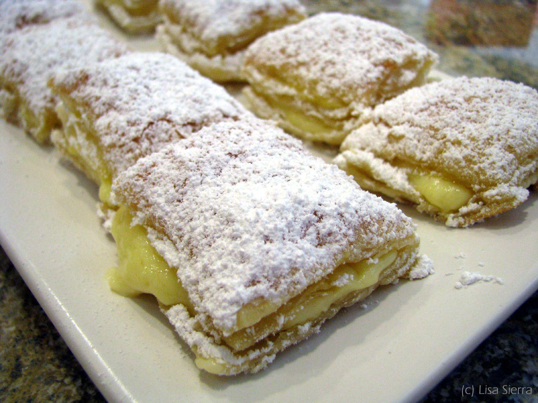 Miguelitos Spanish Cream Filled Pastry Recipe