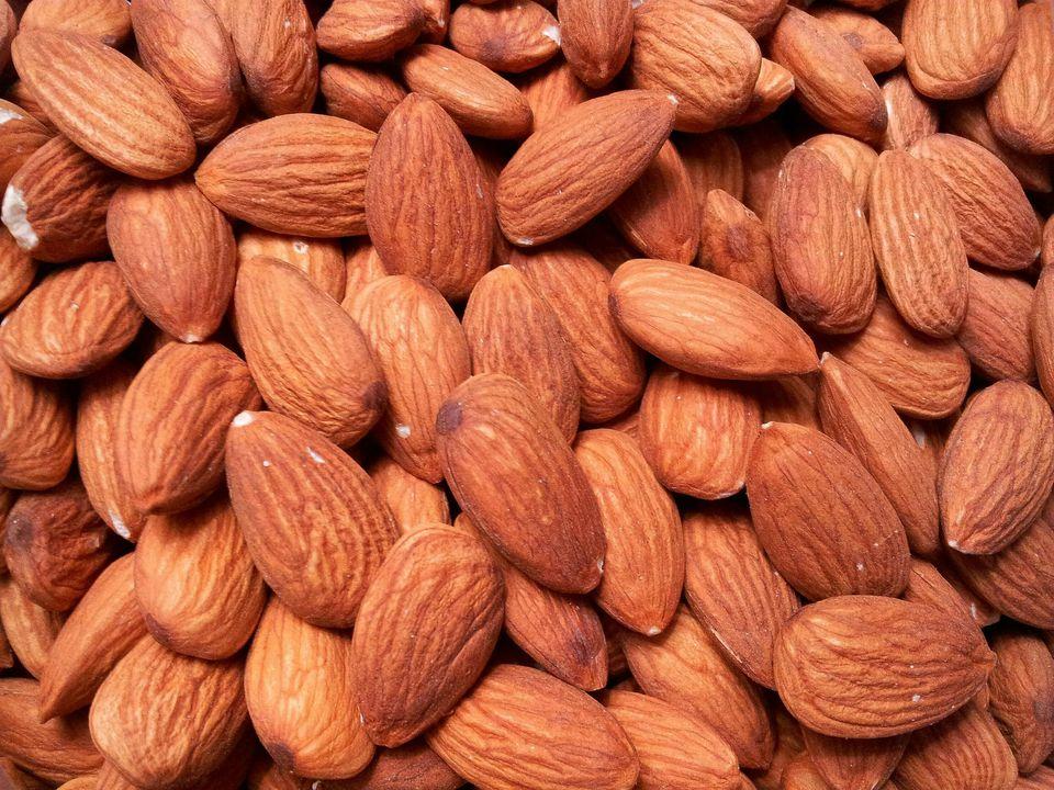Full Frame Shot Of Almonds