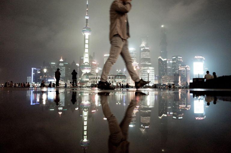 Rain night of Shanghai