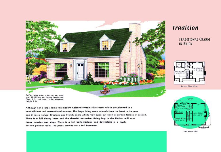 Cape Cod House Plans S America Style - Colonial cape cod style house plans