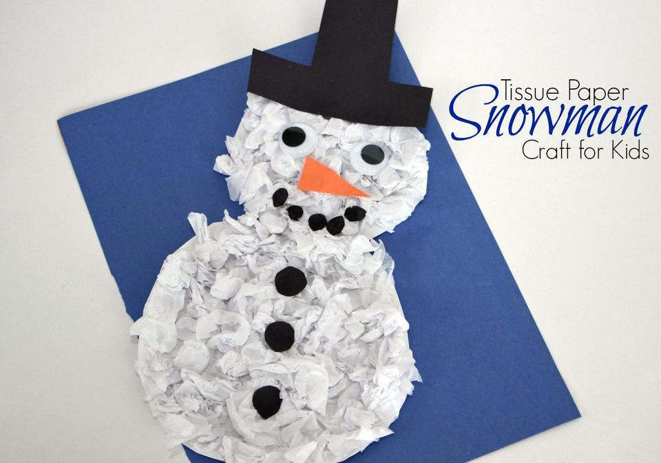 9 adorable snowman crafts for kids for Winter holiday crafts for kids