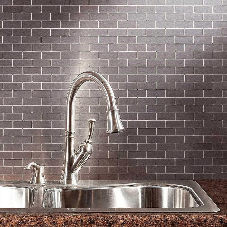 Peel and stick backsplash tile guide aspect peel and stick metal backsplash tiles dailygadgetfo Gallery