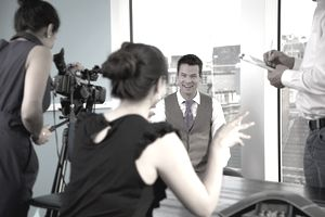 Shooting a commercial