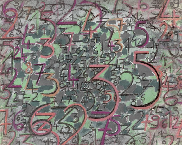 Illustration of colored numbers