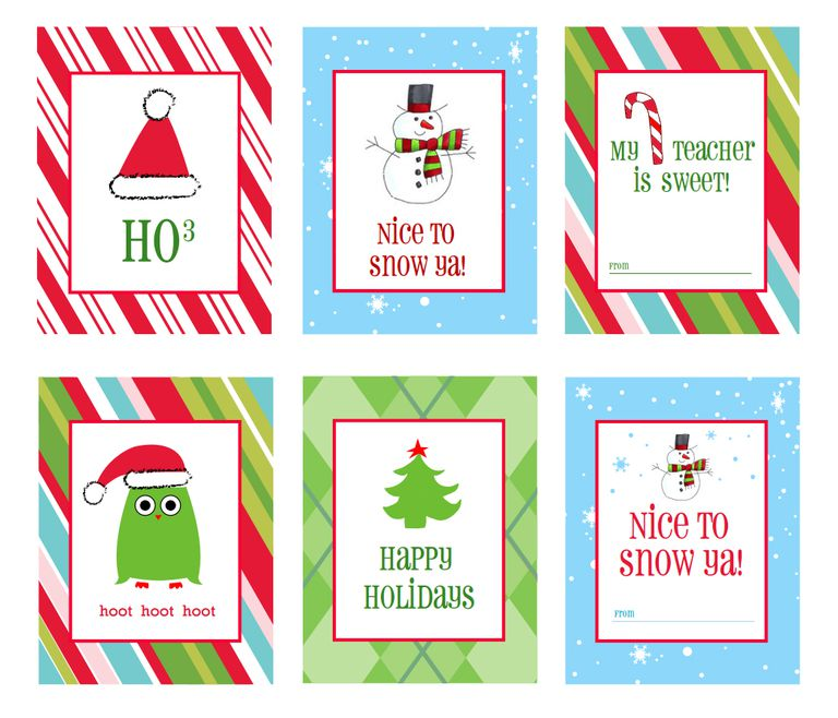 Christmas gift tags in modern colors.