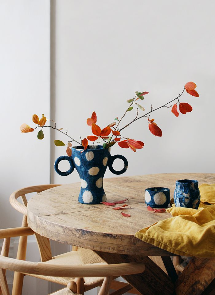 cloth mache ikea vase hack