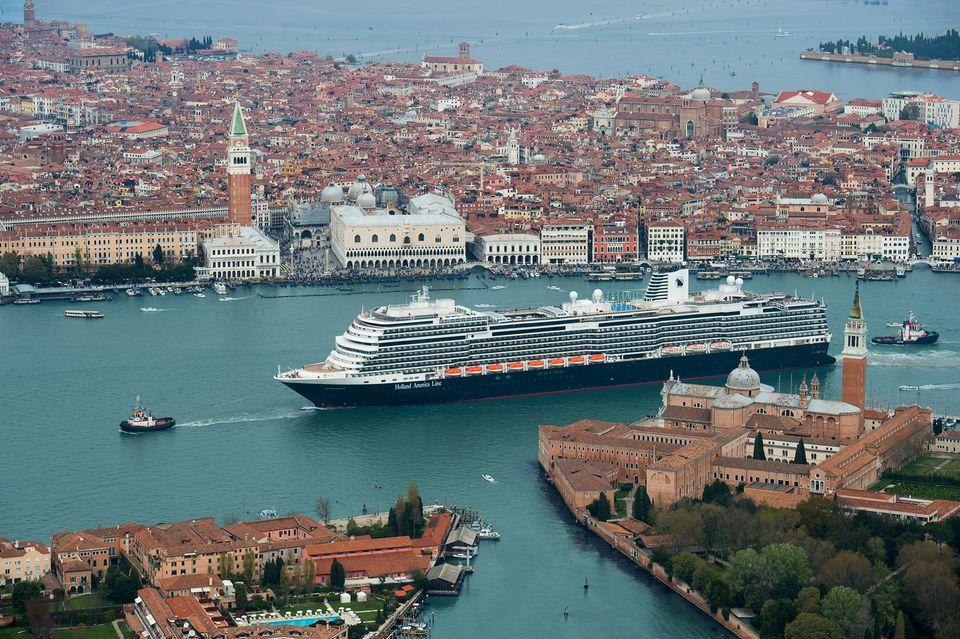 Holland America Koningsdam cruise ship in Venice