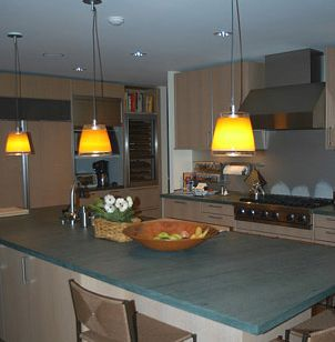 Slate Counter kitchen countertops - popular ideas and pictures