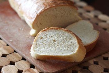 baking bread machine dough in oven