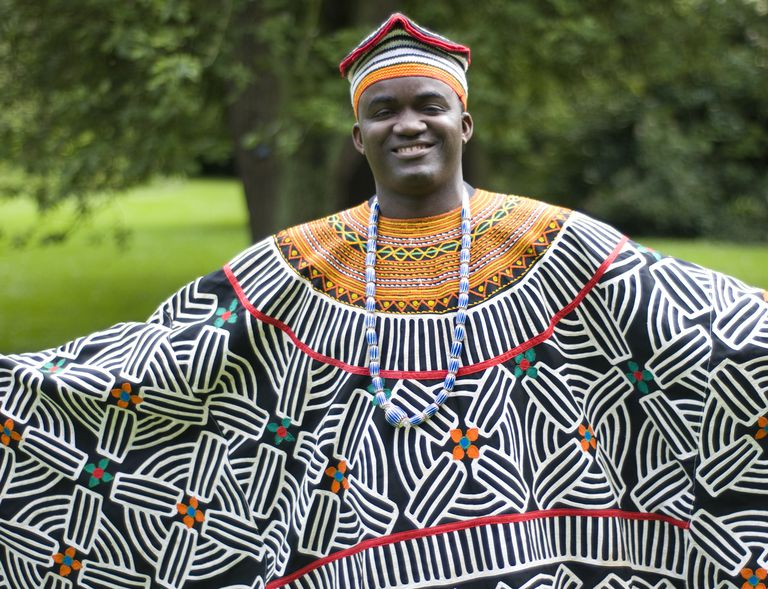 Cameroonian man in traditional garb