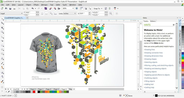 CorelDRAW Graphics Suite Screen Shot