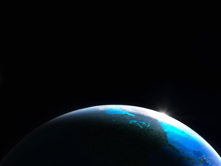Globe shot to look like view of Earth from space.