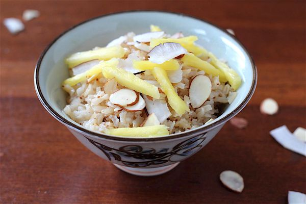 baked coconut rice