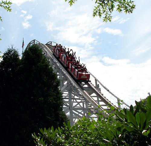 The circa-1927 Wildcat is one of the coasters at Lake Compounce.