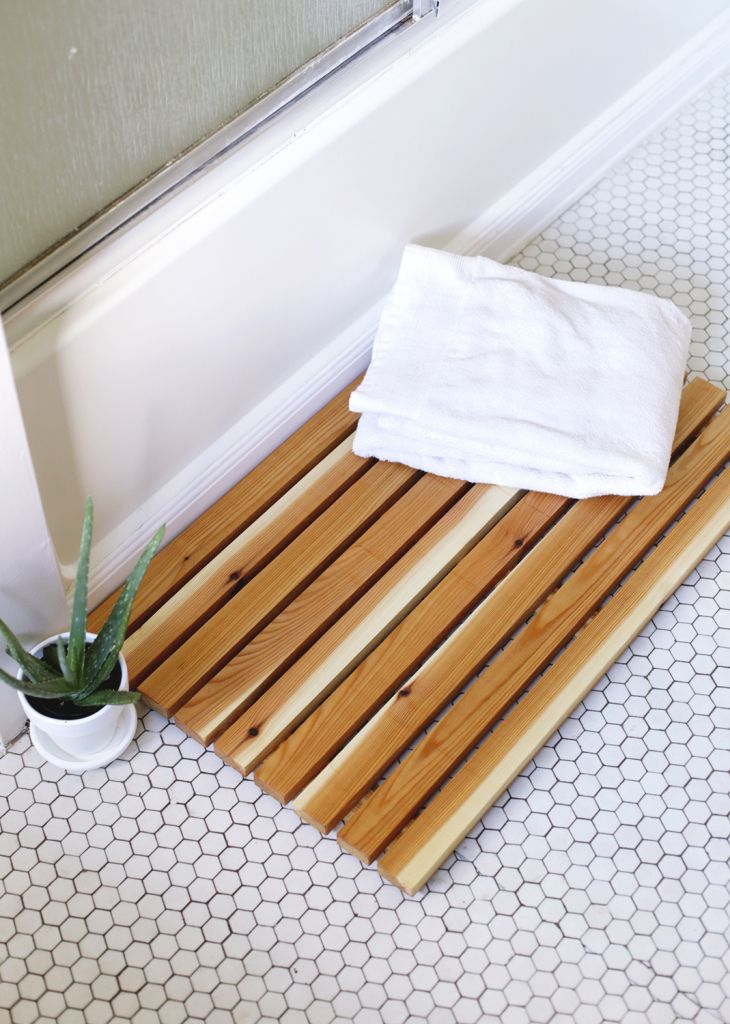 DIY Cedar Bath Mat
