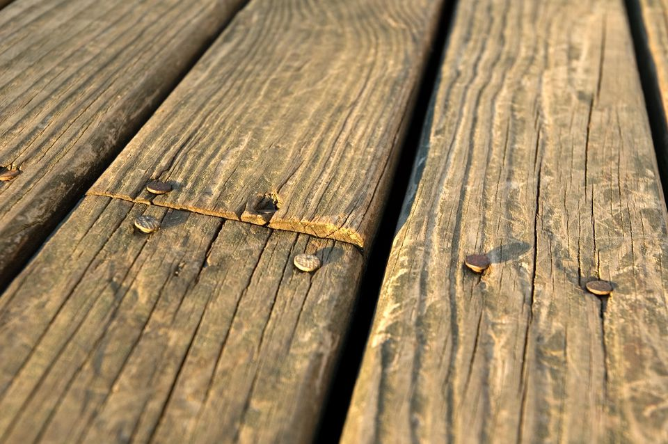 Weathered Wood on a Deck