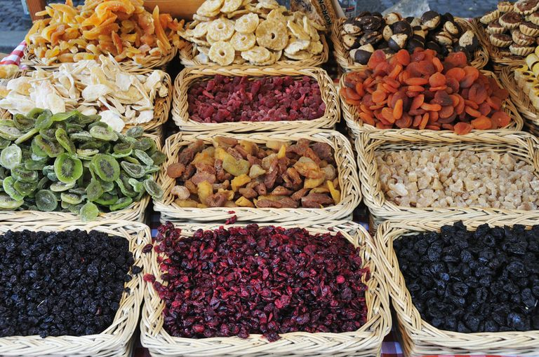View of Dried Fruit